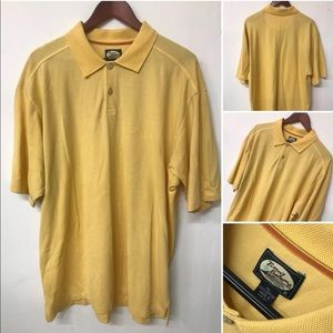 Tommy Bahama Men's XL Yellow Relax Polo Shirt